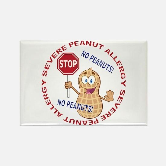 Severe Peanut Allergy Rectangle Magnet