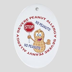 Severe Peanut Allergy Oval Ornament