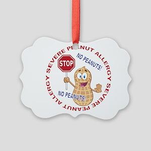 Severe Peanut Allergy Picture Ornament
