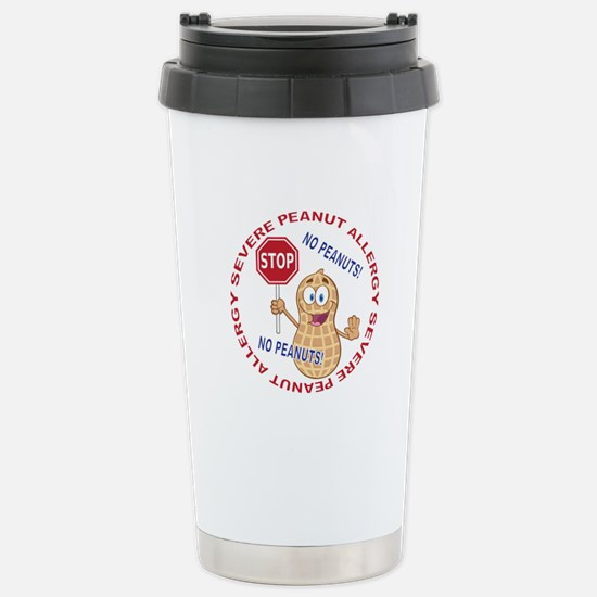 Severe Peanut Allergy Stainless Steel Travel Mug