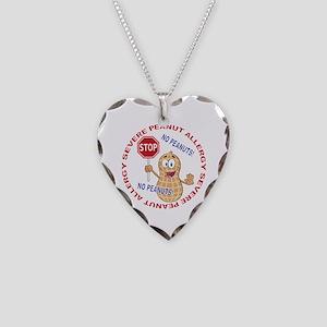 Severe Peanut Allergy Necklace Heart Charm