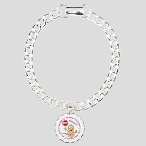 Severe Peanut Allergy Charm Bracelet, One Charm