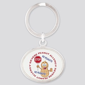 Severe Peanut Allergy Oval Keychain