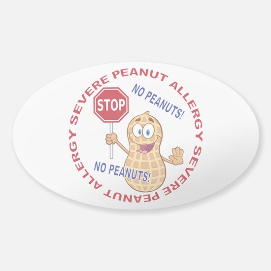 Severe Peanut Allergy Sticker (Oval)
