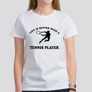 Tennis Player Designs Women's T-Shirt