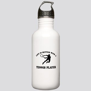 Tennis Player Designs Stainless Water Bottle 1.0L