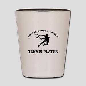Tennis Player Designs Shot Glass