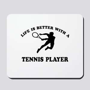 Tennis Player Designs Mousepad