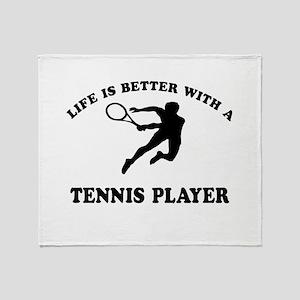 Tennis Player Designs Throw Blanket