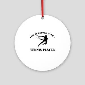 Tennis Player Designs Ornament (Round)