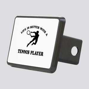 Tennis Player Designs Rectangular Hitch Cover