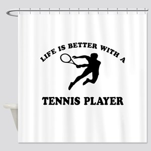 Tennis Player Designs Shower Curtain