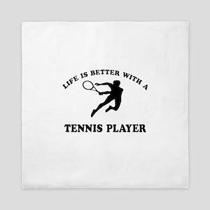 Tennis Player Designs Queen Duvet