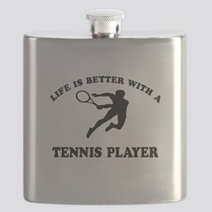 Tennis Player Designs Flask