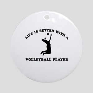 Volleyball Player Designs Ornament (Round)