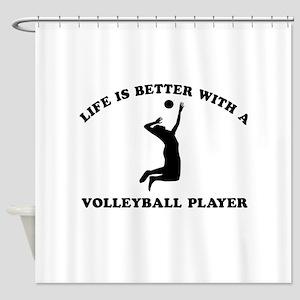 Volleyball Player Designs Shower Curtain
