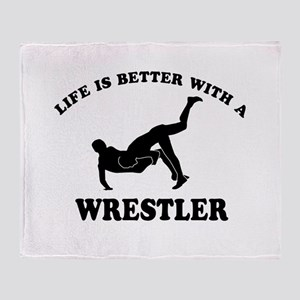 Wrestler Designs Throw Blanket