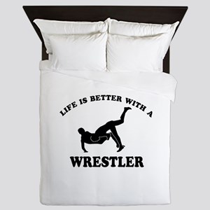 Wrestler Designs Queen Duvet