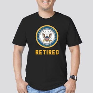 US Navy Retired Men's Fitted T-Shirt (dark)