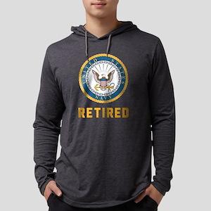 US Navy Retired Mens Hooded Shirt