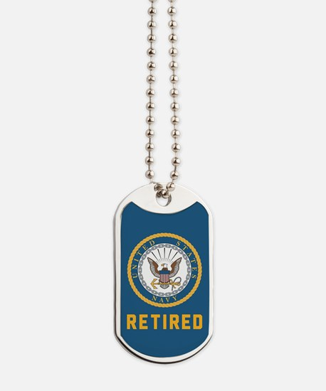US Navy Retired Dog Tags