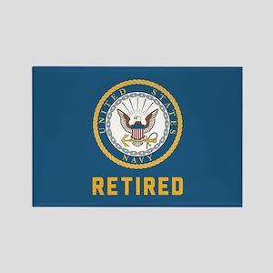 US Navy Retired Rectangle Magnet