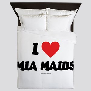 I Love Mia Maids - LDS Clothing copy Queen Duvet