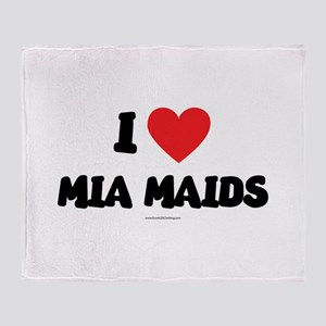 I Love Mia Maids - LDS Clothing copy Throw Blanket