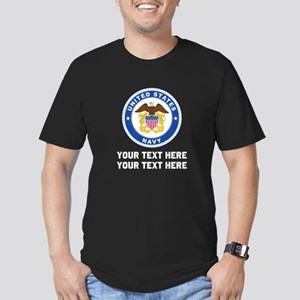 US Navy Sign Personali Men's Fitted T-Shirt (dark)