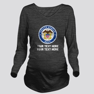 US Navy Sign Persona Long Sleeve Maternity T-Shirt