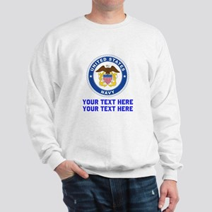 US Navy Sign Personalized Sweatshirt