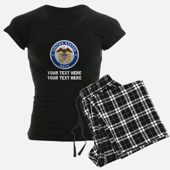 US Navy Sign Personalized Pajamas