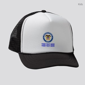 US Navy Sign Personalized Kids Trucker hat