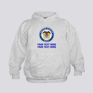 US Navy Sign Personalized Kids Hoodie