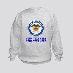 US Navy Sign Personalized Kids Sweatshirt