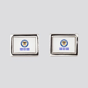 US Navy Sign Personalized Rectangular Cufflinks