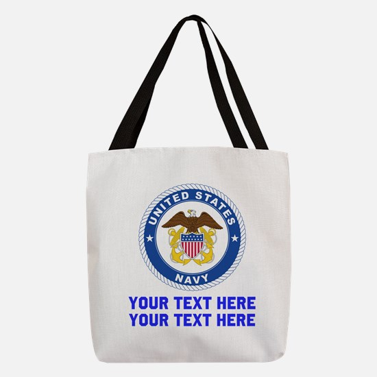US Navy Sign Personalized Polyester Tote Bag
