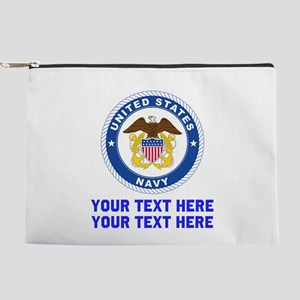 US Navy Sign Personalized Makeup Pouch