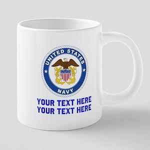 US Navy Sign Personalized 20 oz Ceramic Mega Mug