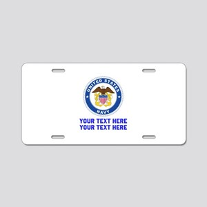 US Navy Sign Personalized Aluminum License Plate