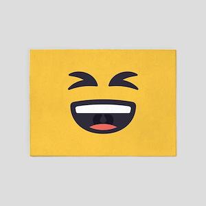 Laughing Emoji Face 5'x7'Area Rug
