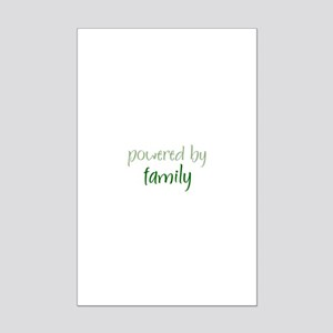 Powered By family Mini Poster Print
