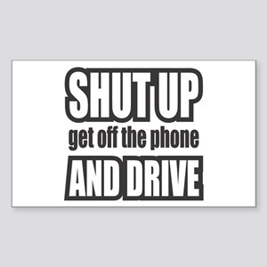 Get off the Phone & Drive! Rectangle Sticker