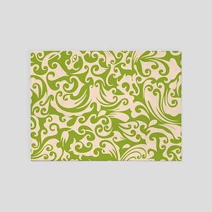 Pistachio & Linen Swirls 5'x7'Area Rug
