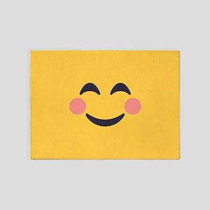 Grinning Emoji Face 5'x7'Area Rug