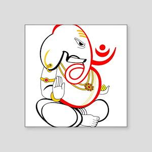 "Beautiful Ganesh Square Sticker 3"" x 3"""