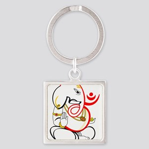 Beautiful Ganesh Square Keychain