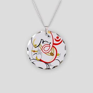 Beautiful Ganesh Necklace Circle Charm