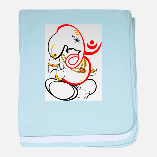 Beautiful Ganesh baby blanket
