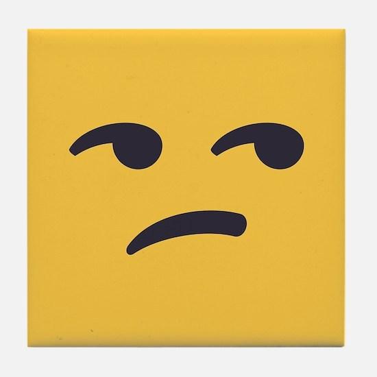 Unamused Emoji Face Tile Coaster